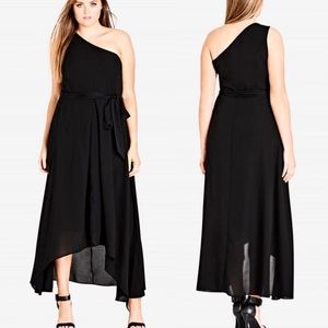 City Chic Black One Love Maxi Size S/16